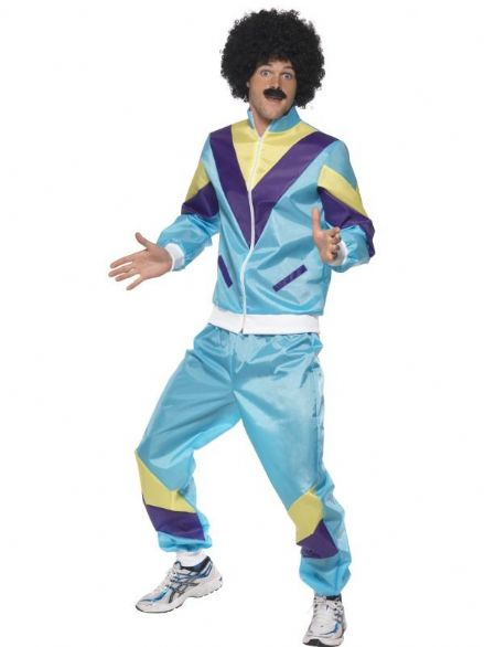 1980's Blue Shell Suit Costume